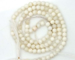 WHITE OPAL BEADS 35  CTS  TBO-975