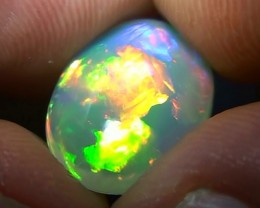 3.40ct Top Quality Gem Multi Colour Peacock Pattern Welo Cab