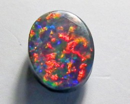 Natural Solid Black Opal Stone  0.55CTS ANA841