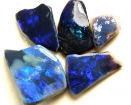 ELECTRIC BLUEBLACK OPAL ROUGH  L. RIDGE  85  CTS  DT-3005
