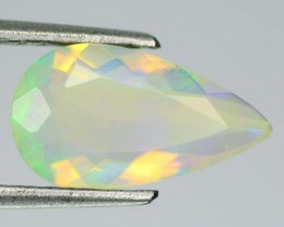 1.61  Cts Natural Multi Color Play Ethiopian Faceted Opal NR