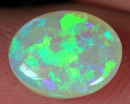 BRIGHT FIRE L. RIDGE NATURAL CRYSTAL OPAL STONE 0.9ct