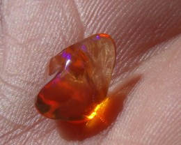 1.88 Cts. FreeForm carved Fire Mexican Opal