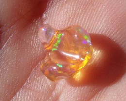 2.12 Cts. FreeForm carved Fire Mexican Opal