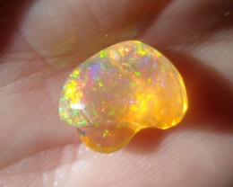 1.57 Cts. FreeForm carved Fire Mexican Opal