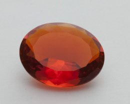 6ct Faceted Dark-Orange Oval Mexican Fire Opal (MO196)