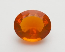 6.1ct Faceted Orange Oval Mexican Fire Opal (MO214)