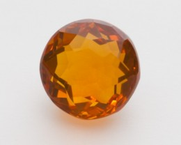 3.6ct Faceted Orange Round Mexican Fire Opal (MO216)