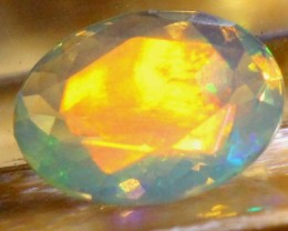 ETHIOPIAN OPAL FACETED CUT STONE  0.65 CTS  FOB-105