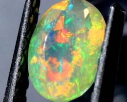 0.50 CTS ETHIOPIAN OPAL FACETED CUT STONE  FOB-109