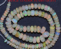 48 Ct Natural Ethiopian Welo Opal Beads Play Of Color 14inch