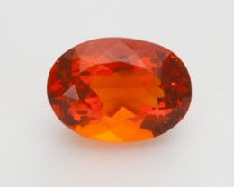 2.3ct Faceted Orange Oval Mexican Fire Opal (MO217)