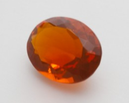 2.3ct Faceted Dark-Orange Oval Mexican Fire Opal (MO224)