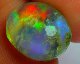 5.92Ct Bright INNER GROW RAINBOW COLOR Ethiopian Welo Opal