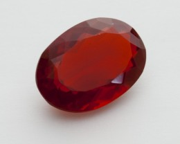 4.3ct Faceted Dark-Orange Oval Mexican Fire Opal (MO240)