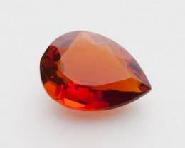 1.9ct Faceted Dark-Orange Pear Mexican Fire Opal (MO241)