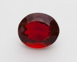 4.3ct Faceted Red Oval Mexican Fire Opal (MO243)