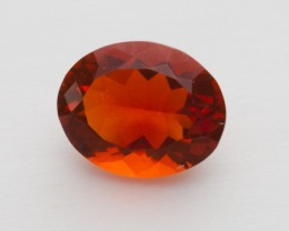 1.6ct Faceted Orange Oval Mexican Fire Opal (MO251)