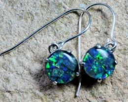 8x8Mosaic Triplet opal Earrings   Sheppard hooks PL 1028