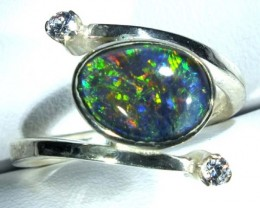 TRIPLET SILVER RING   19.7 CTS  SIZE 6.25 OF-359
