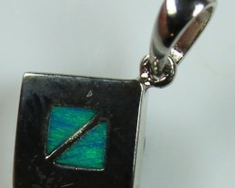 5.25 CTS INLAY STERLING SILVER CRYSTAL OPAL PENDANT 925 C5012