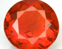 Natural Mexican Orangish Red Fire Opal Round Cut NR