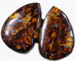 37 CTS YOWAH WELL POLISHED PAIR [SO1132 ]