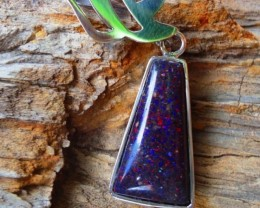 Triangle Pendant with Silver detail, Excellent Handmade