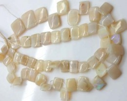 WHITE OPAL BEADS 75 CTS  TBO-1178