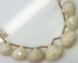 WHITE OPAL BEADS 37.3  CTS  TBO-1182
