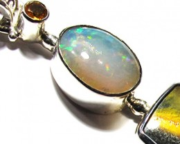LARGE PENDANT OPAL AND BUMBLEE PENDANT [SOJ3731]