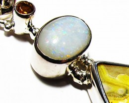 LARGE PENDANT OPAL AND BUMBLEE PENDANT [SOJ3732]