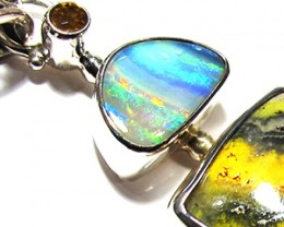 LARGE PENDANT OPAL AND BUMBLEE PENDANT [SOJ3733]