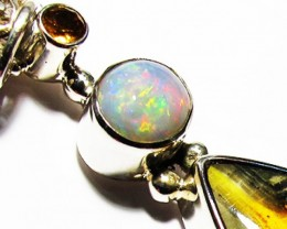 LARGE PENDANT OPAL AND BUMBLEE PENDANT [SOJ3739]