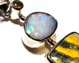 LARGE PENDANT OPAL AND BUMBLEE PENDANT [SOJ3742]