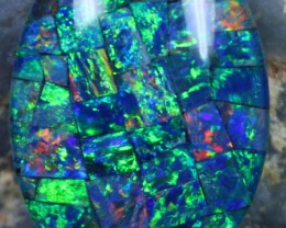 15.55 CTS  TOP QUALITY MOSAIC OPAL ELECTRIC COLOR PLAY C5327