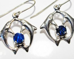 DOUBLET EARRINGS DOLPHIN  [SOJ3800]