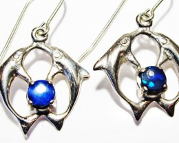 DOUBLET EARRINGS DOLPHIN  [SOJ3807]