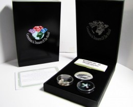 Crocodile Silver Coin &  black Opal series CCO 115