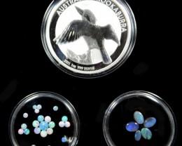 2011 TREASURES OPAL & KOOKABURRA SILVER COIN SERIES ATKK 8
