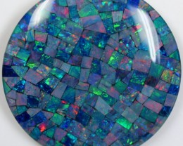 113.55 CTS LARGE TOP QUALITY MOSAIC OPAL ELECTRIC COLOR PLAY C5471