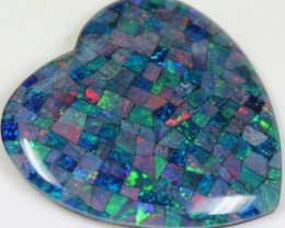 112.65 CTS TOP QUALITY MOSAIC OPAL ELECTRIC COLOR PLAY C5485
