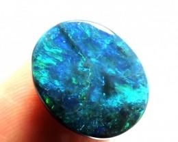 3.2 Cts Black opal N1  Green PL 1065