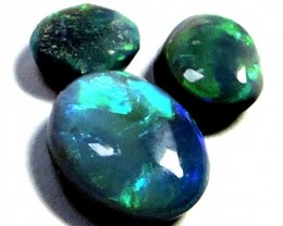 0.60 Cts 3 pc matching  Black Opal QOM 1322