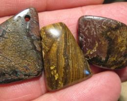 YowahOpals*86.20Cts-'Drilled' 3 Boulder Opal Parcel.