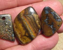 YowahOpals*99.85Cts-'Drilled' 3 Boulder Opal Parcel.