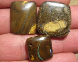 YowahOpals*81.45Cts-'Drilled' 3 Boulder Opal Parcel.
