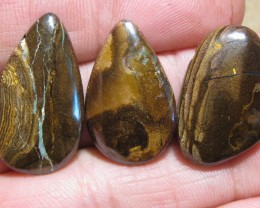 YowahOpals*79.00Cts-'Drilled' 3 Boulder Opal Parcel.