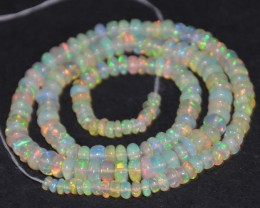 37.65 Ct Natural Ethiopian Welo Opal Beads Play Of Color