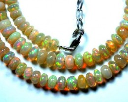 58   CTS  ETHIOPIAN OPAL BEADS DRILLED    FOB-132